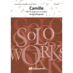 Waignein, André: CAMILLE : FOR SOLO TRUMPET OR FLUGEL- HORN AND CONCERT BAND SCORE+PARTS