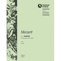 Mozart, Wolfgang Amadeus: Konzert A-Dur KV622 : f├╝r Klarinette und Orchester Violine 1