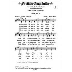 Preissler Singblaetter 5 : Lieder für die Adventszeit, 3-stimmig gesetzt mit Akkordbezeichnung