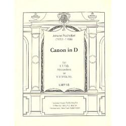 Pachelbel, Johann: Canon in D for 4 recorders (TTTB) or strings (Vl1,Vl2,Vl3/Va,Vc)