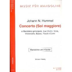Hummel, Johann Nepomuk: Konzert G-Dur : für Mandoline und Orchester Klavierauszug LICHTPAUSE