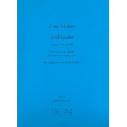 Schubert, Franz: 12 Ländler oppost.171 D790 : für Klavier zu 4 Händen