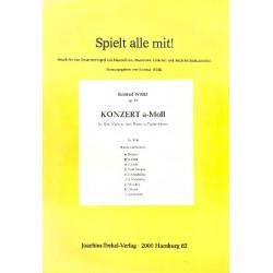 Wölki, Konrad: Konzert a-Moll op.57 : für Violine, 2 Flöten und Zupforchester