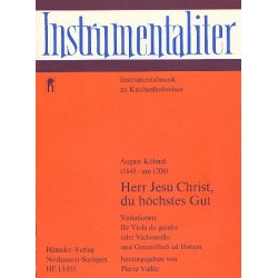 Kühnel, August: Herr Jesu Christ du höchstes Gut : Variationen für Viola da gamba