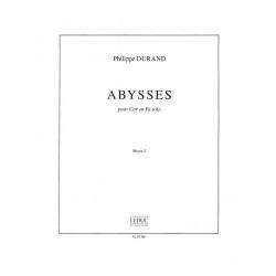 Durand, Philippe: ABYSSES : POUR COR EN FA SOLO MOYEN 2