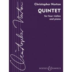 Norton, Christopher: Quintett für 4 Violinen und Klavier Stimmen