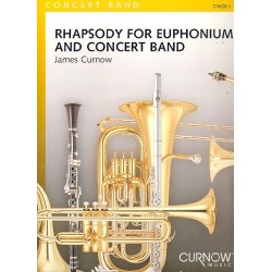 Curnow, James: Rhapsody : for euphonium and concert band score and parts