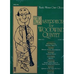 Music minus one Oboe (+CD) : Masterpieces for woodwind quintet