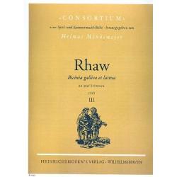 Rhaw, Georg: Bicinia gallica et latina Band 3 : Zweistimmige Spielstücke für Instrumente im Oktavabstand, Partitur