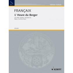 Francaix, Jean: L'heure du berger : für Bläserquintett und Klavier 5 Stimmen