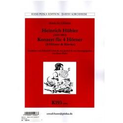 Hübler, Carl Heinrich: Konzert für 4 Hörner und Orchester : für 4 Hörner und Klavier
