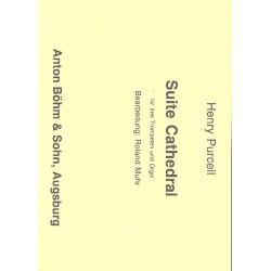 Purcell, Henry: Suite Cathedral : für 3 Trompeten und Orgel Partitur und Stimmen