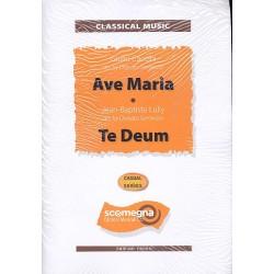 Ave Maria und Te Deum : f├╝r Gesang (Soloinstrument) und Blasorchester Partitur und Stimmen