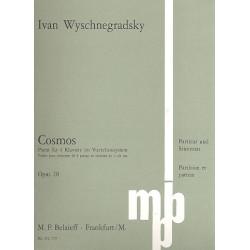 Wyschnegradsky, Ivan: Cosmos op.28 : für 4 Klaviere im Vierteltonsystem Partitur und Stimmen