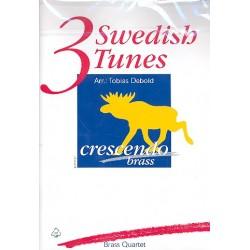 3 Swedish Tunes : f├╝r 2 Trompeten, Horn (Posaune/Tenorhorn) und Posaune Partitur und Stimmen