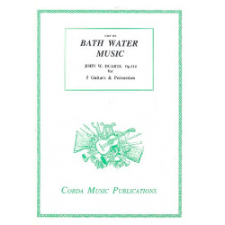 Duarte, John William: Bath Water Music op.114 for 5 guitars and percussion score and parts, archive copy
