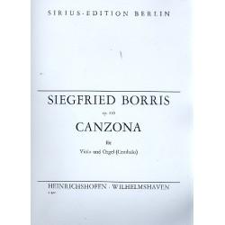 Borris, Siegfried: Canzona op.110 : f├╝r Viola und Orgel (Cembalo)