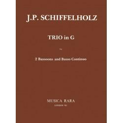 Schiffelholtz, Johann Paul (Sohn): Trio G-Dur : für 2 Fagott und Bconate G Partitur und Stimmen