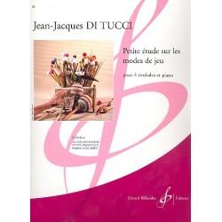 Di Tucci, Jean-Jacques: Petite étude ssur les modes de jeu pour 4 timbales (1 joueuer) et piano