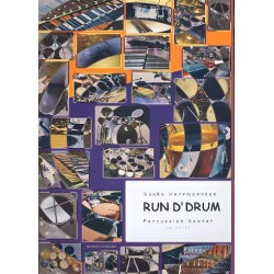Herrmannsen, Sönke: Run d'drum : for 6 or more percussionists score and parts