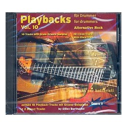 Bartholmé, Gilles: Playbacks for Drummer vol.10 : CD Alternative Rock