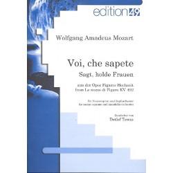 Mozart, Wolfgang Amadeus: Voi che sapete KV492 : für Mezzosopran und Zupforchester Partitur (dt/it)