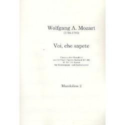 Mozart, Wolfgang Amadeus: Voi che sapete KV492 : für Mezzosopran und Zupforchester Mandoline 2