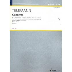 Telemann, Georg Philipp: Concerto a-Moll : für 2 Altblockflöten, 2 Oboen, 2 Violinen und Bc Partitur