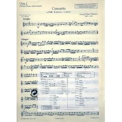 Telemann, Georg Philipp: Concerto a-Moll : für 2 Altblockflöten, 2 Oboen, 2 Violinen und Bc, Stimmensatz chorisch