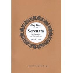 Baur, Jürg: Serenata : für Saxophon und Zupforchester Partitur