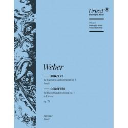 Weber, Carl Maria von: Konzert f-moll nr.1 Op.73 : f├╝r Klarinette und Orchester Partitur