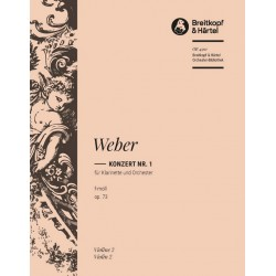 Weber, Carl Maria von: Konzert f-moll nr.1 Op.73 : für Klarinette und Orchester violine 2