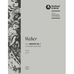 Weber, Carl Maria von: Konzert f-Moll nr.1 Op.73 : für Klarinette und Orchester Viola