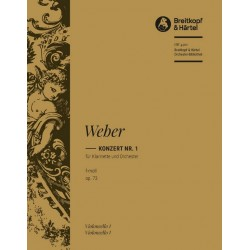 Weber, Carl Maria von: Konzert f-moll nr.1 Op.73 : für Klarinette und Orchester violoncello