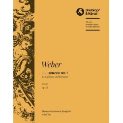 Weber, Carl Maria von: Konzert f-moll nr.1 Op.73 : für Klarinette und Orchester Harmonie