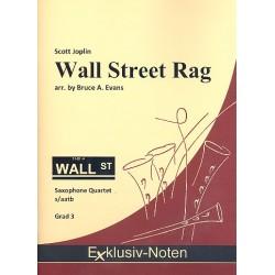 Joplin, Scott: Wall Street Rag : für 4 Saxophone (S(A)ATBar) Partitur und Stimmen