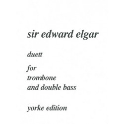Elgar, Edward: Duett : for trombone and double bass, score