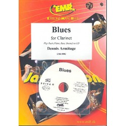 Armitage, Dennis: Blues (+CD) : for clarinet and piano (bass and drums ad lib)