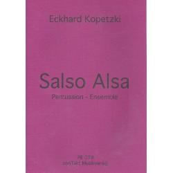 Kopetzki, Eckhard: Salso Alsa : für Percussion-Ensemble Partitur und Stimmen