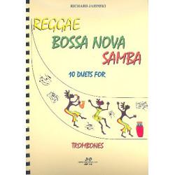 Jasinski, Richard: Reggae, Bossa nova, Samba : f├╝r 2 Posaunen Spielpartitur