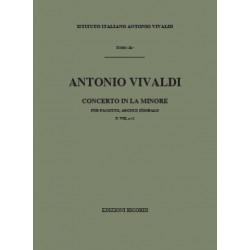 Vivaldi, Antonio: Konzert a-Moll F.VIII:2 : für Fagott, Streicher und Bc Partitur