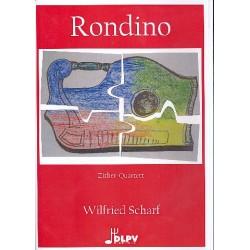 Scharf, Wilfried: Rondino : für 4 Zithern (DDDB) Partitur und Stimmen