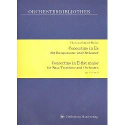 Müller, Christian Gottlieb: Concertino Es-Dur op.5 : für Bassposaune und Orchester Partitur