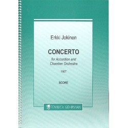 Jokinen, Erkki: Concerto : for accordion and chamber orchestra score