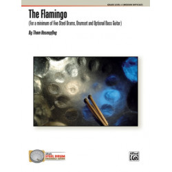 Hasenpflug, Thom: The Flamingo : for 5 steel drums and drum set (bass guitar ad lib) score and parts