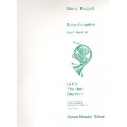 Boucard, Marcel: Suite champêtre : pour flûte et cor