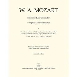 Mozart, Wolfgang Amadeus: 5 Sonaten für 2 Violinen, Orgel, Violoncello und Baß Cello / Baß