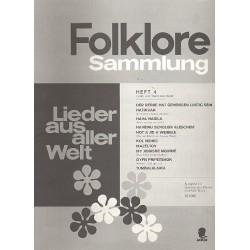 Folklore-Sammlung Band 4 : Lieder aus aller Welt für Gesang und Klavier