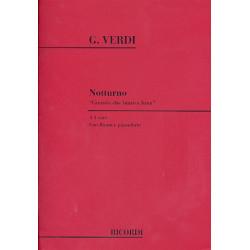 Verdi, Giuseppe: Notturno a 3 voci (STB) con flauto e pianoforte (it) partitura e flauto part