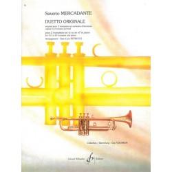 Mercadante, Saverio: Duetto originale pour 2 trompettes et orchestre d'harmonie : pour 2 trompettes et piano